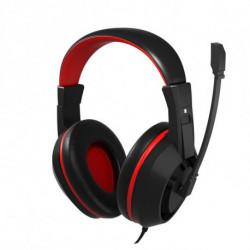 Mars Gaming MAH0+ conjunto de auscultadores e microfone Binaural Fita de cabeça Preto, Vermelho