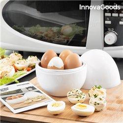 InnovaGoods Cuecehuevos para Microondas con Recetario Boilegg