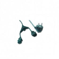 iggual IGG311196 câble électrique Noir 2 m CEE7/7 Coupleur 2 x C13