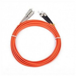 iggual IGG311479 câble de fibre optique 5 m OM2 2x ST 2x SC Orange