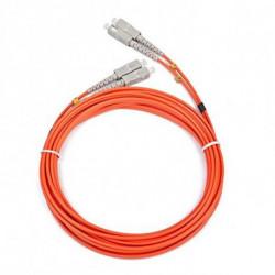 iggual IGG311509 cable de fibra optica 5 m OM2 2x SC Naranja
