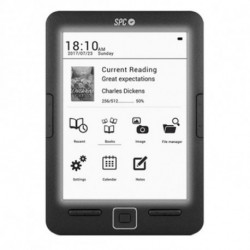SPC Dickens Light lettore e-book 8 GB Nero