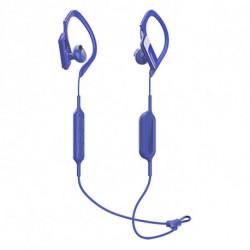 Panasonic Auriculares Bluetooth com microfone para prática desportiva RP-BTS10E-A Waterproof Azul