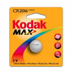 Kodak Pila de Botón de Litio KCR2016 3 V Plata