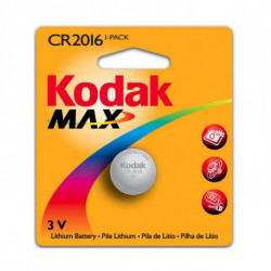 Kodak Pile Bouton au Lithium KCR2016 3 V Argent
