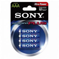 Sony Alkline-Batterie AM4L-B4D AM4L-B4D 1,5 V AAA (4 pcs) Blau Grün