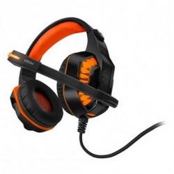 Krom Auriculares con Micrófono Gaming NXKROMKNR Konor Ultimate | Naranja/Negro