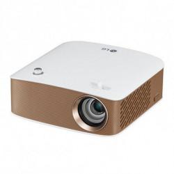 LG PH150G vidéo-projecteur 130 ANSI lumens DLP 720p (1280x720) Vidéoprojecteur portable Or, Blanc