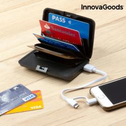 InnovaGoods Tarjetero de Seguridad y Power Bank