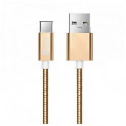 Cabo USB A 2.0 para USB C Ref. 101097 Ouro rosa