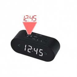 Denver Electronics CRP-717 radio Reloj Digital Negro