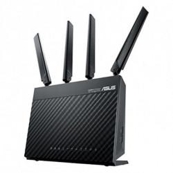 ASUS 4G-AC68U router inalámbrico Doble banda (2,4 GHz / 5 GHz) Gigabit Ethernet 3G Negro
