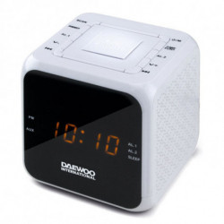 Daewoo Radio Sveglia DCR-450 Bianco