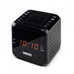 Daewoo Clock-Radio DCR-450 Black
