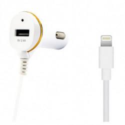 Ladegerät fürs Auto Ref. 138215 USB Cable Lightning Weiß