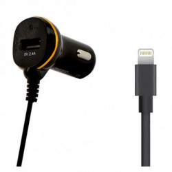Car Charger Ref. 138222 USB Cable Lightning Black