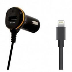 Cargador de Coche Ref. 138222 USB Cable Lightning Negro