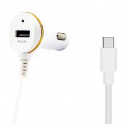 Caricabatterie per Auto Ref. 138239 USB Bianco