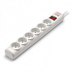 Salicru Power Socket - 6 Sockets with Switch 680BA-03