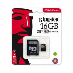 Kingston Technology Canvas Select cartão de memória 16 GB MicroSDHC Class 10 UHS-I