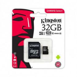 Kingston Technology Canvas Select cartão de memória 32 GB MicroSDHC Class 10 UHS-I