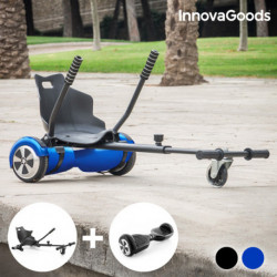 InnovaGoods Pack Hoverkart + Hoverboard Patinete Eléctrico Azul