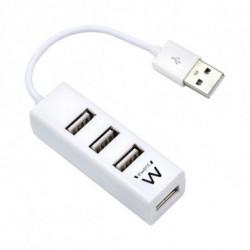 Ewent EW1122 hub & concentrateur USB 2.0 Blanc