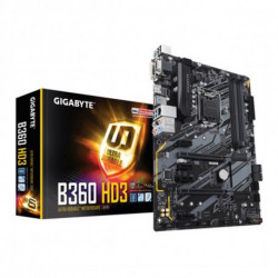 Gigabyte B360 HD3 motherboard LGA 1151 (Socket H4) ATX Intel B360 Express