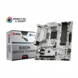 MSI B360M MORTAR TITANIUM carte mère LGA 1151 (Emplacement H4) Micro ATX Intel® B360