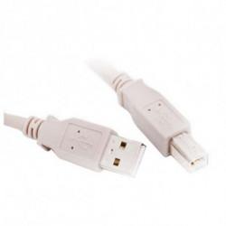 L-Link USB A zu USB-B-Kabel LL-CA-SB-1332 Weiß