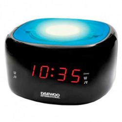 Daewoo Rádio Despertador DCR-440BL LED FM Azul