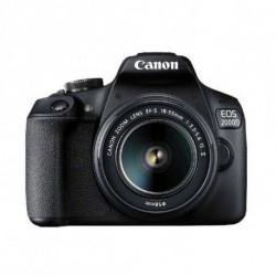 Canon EOS 2000D BK 18-55 IS II EU26 Kit câmara SLR 24,1 MP CMOS 6000 x 4000 pixels Preto