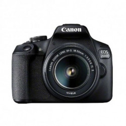 Canon EOS 2000D BK 18-55 IS II EU26 Kit d'appareil-photo SLR 24,1 MP CMOS 6000 x 4000 pixels Noir