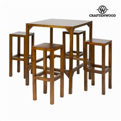 Table haute avec 4 tabourets - Collection Franklin by Craftenwood