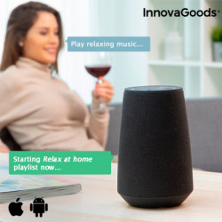 InnovaGoods Smart Speaker Bluetooth Assistente Virtuale VASS