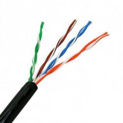 NANOCABLE Cable de Red Rígido UTP Categoría 5e 10.20.0302-EXT-BK 100 m Negro