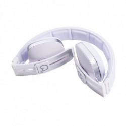 Hiditec Wave auricular para telemóvel Binaural Fita de cabeça Branco