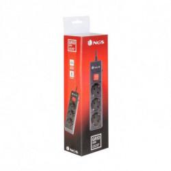 NGS Grid 300 Spannungsschutz 3 AC-Ausgänge 250 V 1,5 m Schwarz