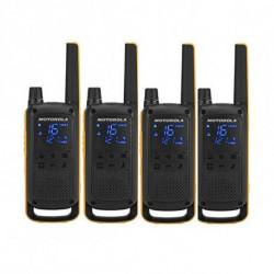 Motorola Walkie-Talkie T82 Extreme (4 Pcs) Nero Giallo