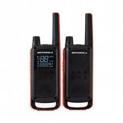 Motorola Walkie-Talkie T82 (2 Pcs) Nero Arancio