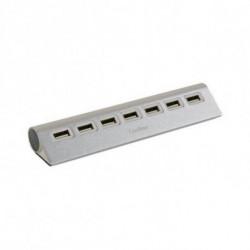 CoolBox Hub USB COOHU7ALU2 Alluminio (7 porte)