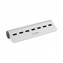 CoolBox COO-HU7ALU3 Schnittstellen-Hub USB 3.0 (3.1 Gen 1) Type-A 5000 Mbit/s Silber