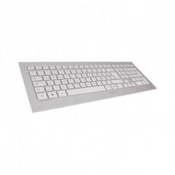 CHERRY DW 8000 teclado RF inalámbrico QWERTY Español Plata, Blanco