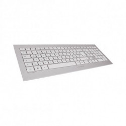 CHERRY DW 8000 teclado RF Wireless QWERTY Espanhol Prateado, Branco