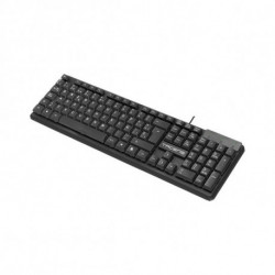 Tacens ACP0ES clavier USB QWERTY Espagnole Noir