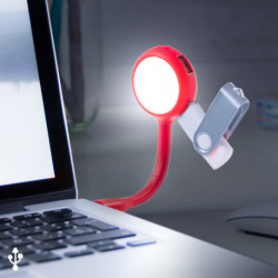 LED Lamp with USB Ports 144858 Black