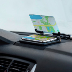 Supporto per Cellulari con Specchio da Auto 145749 Nero