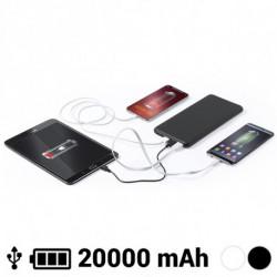 Power Bank 20000 mAh USB-C Lightning Micro USB 145784 Blanco