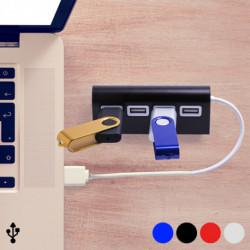 4-Port USB Hub 145201 Rot