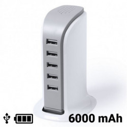 USB Desktop Charger 6000 mAh 145309 White
